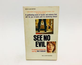 Vintage Thriller Book See No Evil by William Hughes 1971 Movie Tie-In Edition Paperback