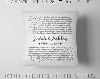 Valentine's Day Gift, Life is Better with You, 18x18 Throw Pillow