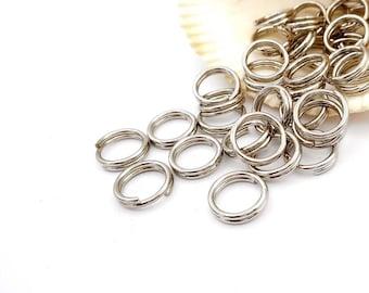 40 Stainless Steel Double Loop Split Open Jump Rings 12mm - 9-SS-12DL