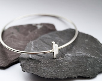 Parallels Sterling Silver Bangle ~ simple, modern, stacking, geometric, bangle, bracelet, gift, birthday