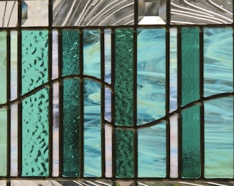 Stained Glass - Seafoam Mint Green - Modern