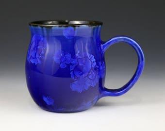 Crystalline 14 oz Mug Dark Cobalt Blue with Black Cup #1312
