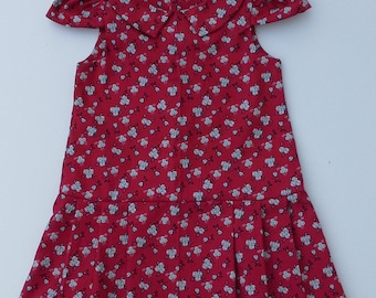 Girl Dresses, Girl Clothes, Red Dresses, Back to School Dresses,Size 6T, 7 and 8