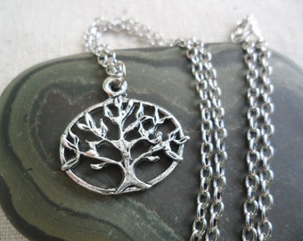 Silver Tree Necklace - Silver Tree Pendant - Tree of life Jewelry - Simple Everyday Silver Jewelry