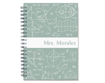 2018 Math nerd custom planner, 2018-2019 weekly calendar, personalized calendar, academic planner, math teacher gift, SKU: pli math wht