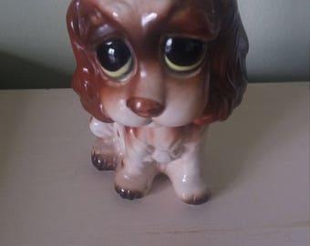vintage dog figurine, vintage lefton, vintage figurine, vintage dog A18