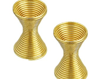 Large 11mm ref 152-colored metal spring spacers gold