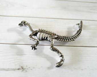 Dinosaur Pendant Connector Dinosaur Bones Charm Connector Link Antiqued Silver Dinosaur Bones Dinosaur Skeleton PREORDER