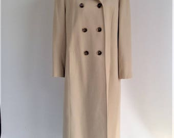 NEW PRICE - Vintage 100% Pure Wool Full Length Double Breasted Maxi Coat
