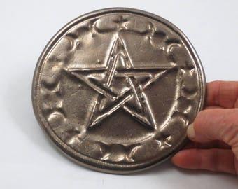 Pentagramm Pentagramm Altar Fliesen handgemachte Keramik Gold