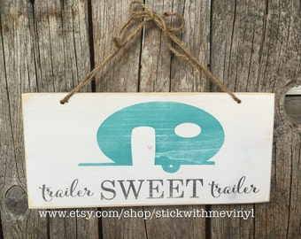 TRAVEL trailer sign, trailer decor, trailer SWeeT trailer sign, happy CAMPeR sign, RV sign, welcome cabin sign, CAMpIng Sign