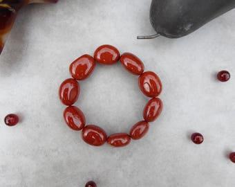 Orange Botswana Agate Bracelet