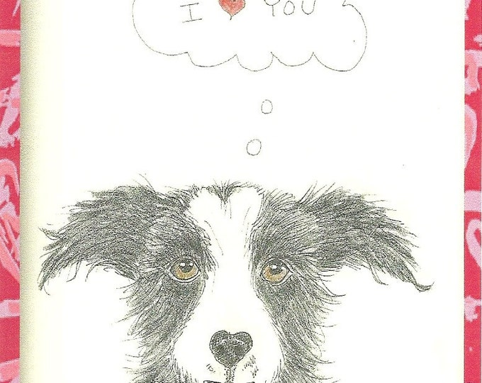 Loveable Mutt Blank greeting Card