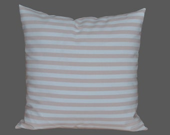 STRIPED PILLOW-COVER, Powder pink/ white, 40x40 cm/ 15,7x15,7 inch, for decorative pillow