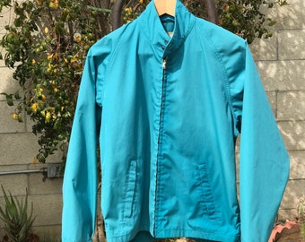 Vintage Weathercaster Teal Jacket 60's Style