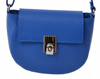 Half moon leather woman shoulder bag