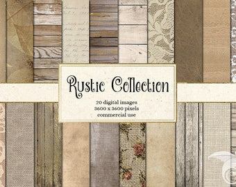 Rustic Digital Paper, rustic wood backgrounds, burlap and lace, rustic shabby chic wedding backgrounds, photo backdrops, rustic textures