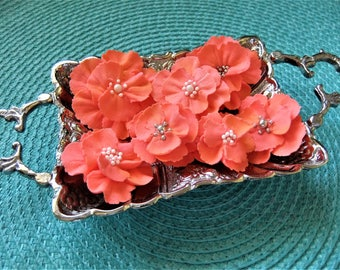 Royal Icing Flowers Captivating Coral ReAdY To ShIp !! Cake - Cupcake - Cake PoP Toppers Weddings Events Parties Brides