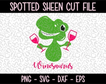 Winosaurus PNG SVG eps and dxf Files for Cutting Machines Cameo or Cricut