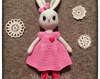 Amigurumi Doll Crochet Bunny Rabbit Doll for KidsToy Soft baby gift Nursery decor Easter toy Birthday gift Handmade Toy