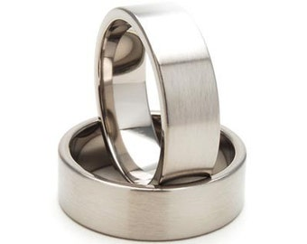 New 7mm Wide Comfort Fit Titanium Ring - 7F-B