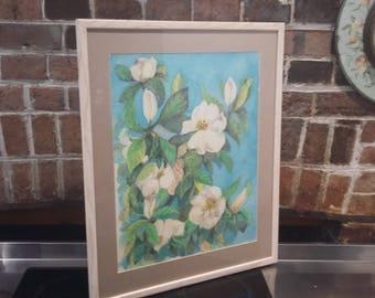 Large Dye on Silk Menda Lambrinudi 'Magnolia of Westonbirt'