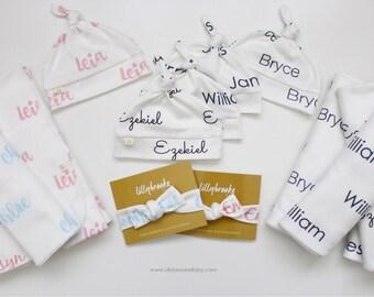 Personalized Swaddle Blanket / Swaddle Set / Custom Swaddle Blanket / Personalized Receiving Blanket / Receiving Blanket / Name blanket