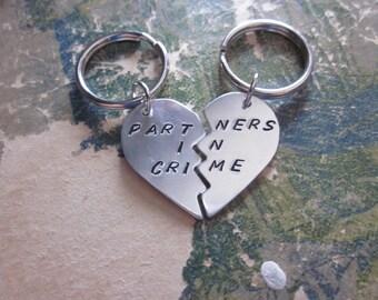 The Jeanette Key Chain - Custom Broken Heart Key Chain Set