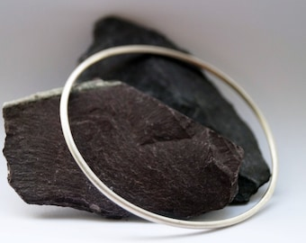 Sterling Silver Bangle ~ simple, modern, stacking