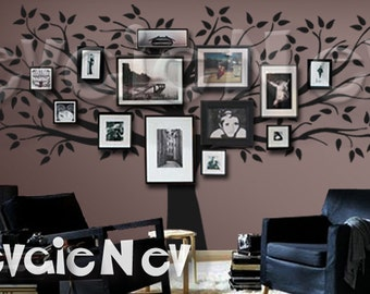 Family Tree Wall Decal - Picture Frame Wall Decals - Wall Decals Living Room - TRFMLY020