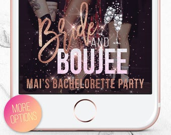 Bride and Boujee Bachelorette Filter, Bachelorette Party Snapchat Filter, Bad & Boujee Bachelorette Geofilter, Custom Bachelorette Filter
