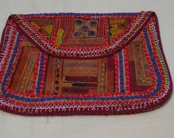 Vintage Banjara Clutch Bag Purse Boho Ethnic Tribal Gypsy India
