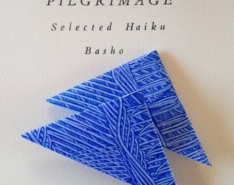 Origami Page Corner Bookmarks-Blue