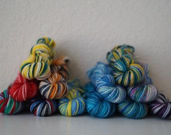 Little Mermaid Inspired Mini Skein Set - Hand Dyed Yarn - 120 Grams