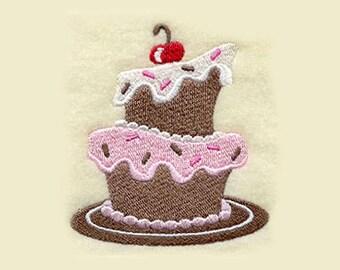 Whimsical Layer Cake Tea Towel | Embroidered Kitchen Towel | Personalized Kitchen Towel | Embroidered Tea Towel | Embroidered Towel