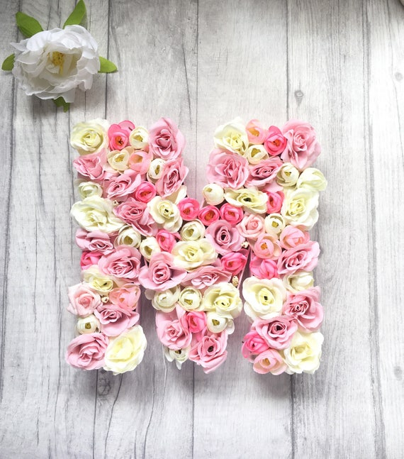 Wall decor new baby gift birthday present floral letter negle Gallery