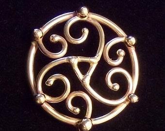 Triskeion Hair Stick in bronze