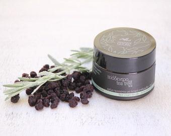 Face cream tea tree-acai for oily or acne prone skin