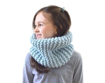Chunky Knit Kids Cowl Scarf Neck Warmer, Children Scarf, Boys Girls Cowl | The Little Tallin