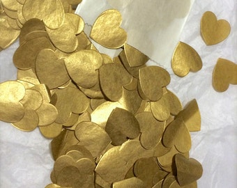 Metallic GOLD Wedding Confetti, Decorations, Tissue Confetti, BULK 2,800 Pieces!