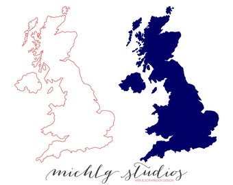 Vector & PNG UK clipart, map clip art,state, country, silhouette, printable