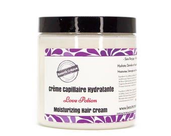 Moisturizing Hair Cream - Love Potion - with mango butter, sweet almond and jojoba oils - 250ml