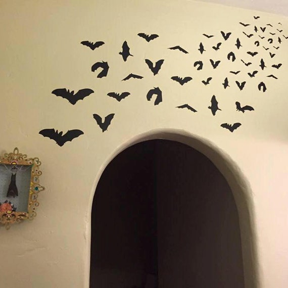 Bat Attack/Vinyl Wall Art-CHOOSE ANY COLOR
