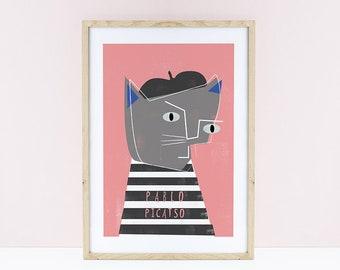 Pablo Picasso Cat Print