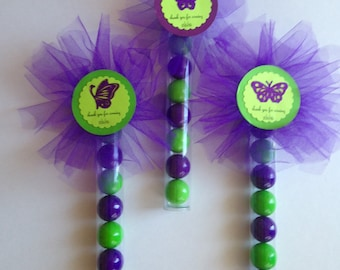 Butterfly Theme Candy Wands, Party Favor Wands, Candy Wands