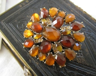 Vintage Amber and Honey Pin