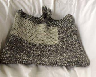 Crochet bag, upcycled bag, tote