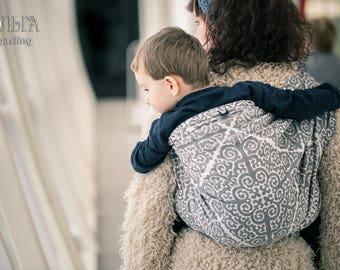 Ulchi Monochrome woven wrap baby carrier