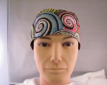 Men's Scrub Hat Swirls