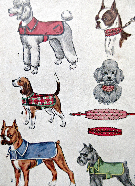 Vintage simplicity 4219 sewing pattern vintage dog coat pattern 395 shipping jeuxipadfo Gallery